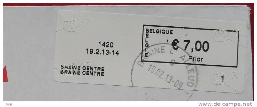 België 2013 Braine Centre 1420 - Nieuw Type Logo Bpost Nr. 1 - Frankeervignetten
