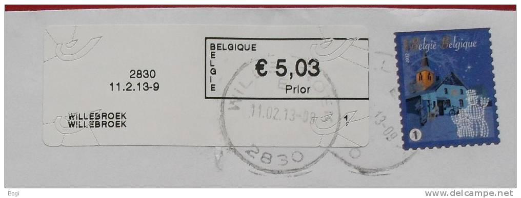 België 2013 Willebroek 2830 - Nieuw Type Logo Bpost Nr. 1 - Postage Labels