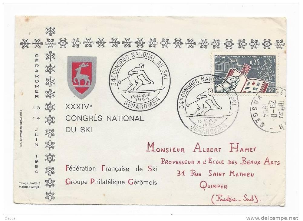 12287 - SPORT - SKI - 34ème CONGRES NATIONAL DU SKI - GERARDMER JUIN 1964 - Skiing