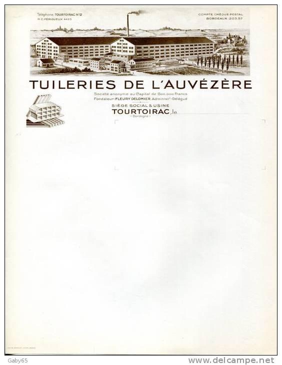 24.DORDOGNE.TOURTOIRAC.TUILERIES DE L'AUVEZERE. - Non Classés