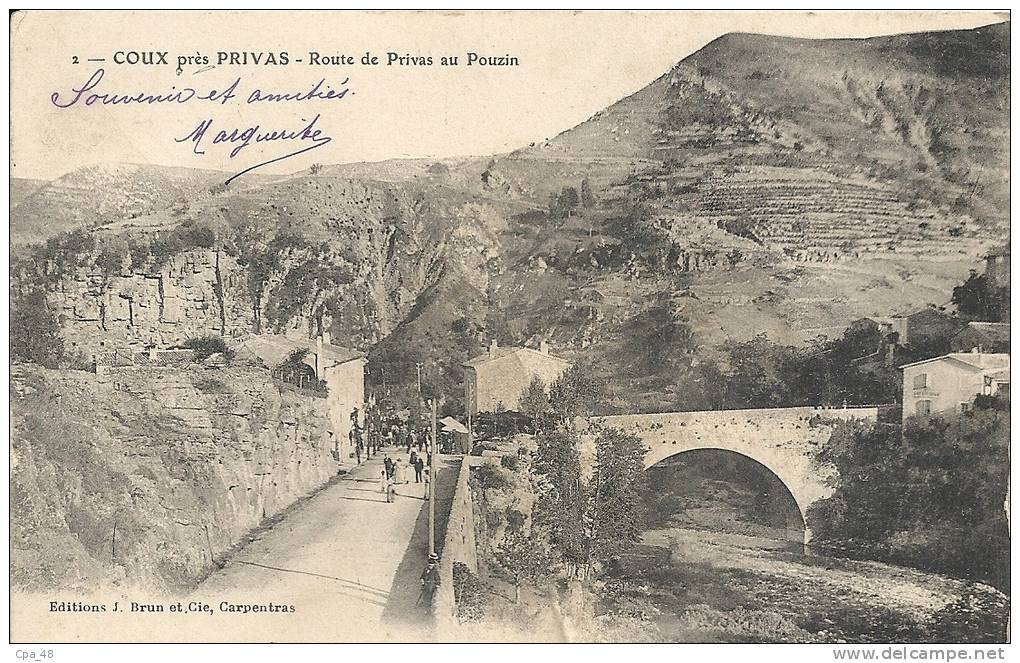 Ardèche- Coux Près Privas -Route De Privas Au Pouzin. - Privas