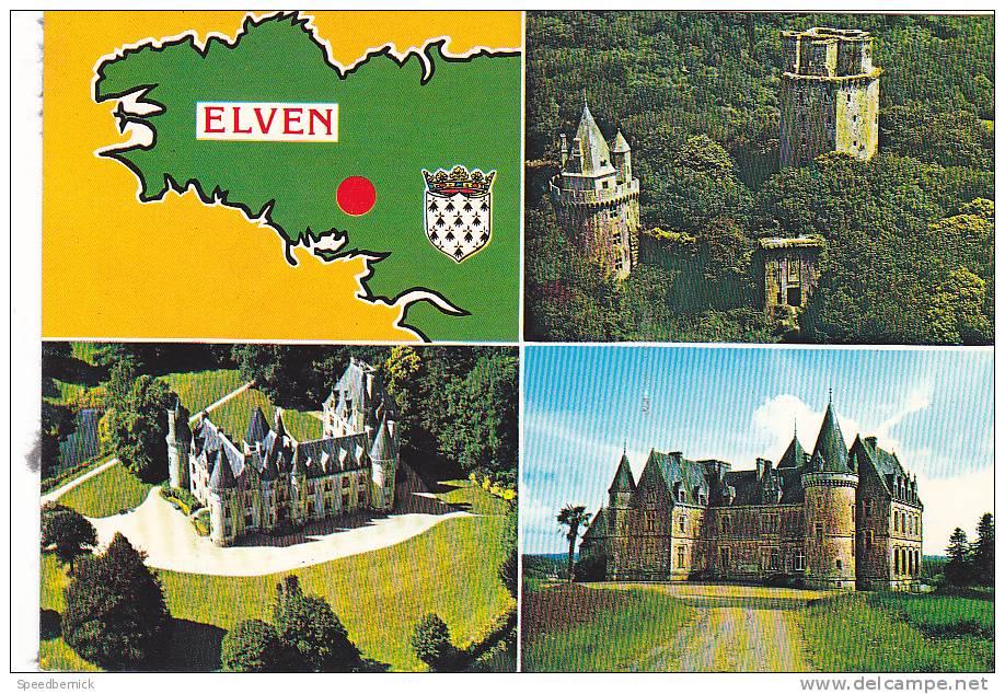 21877 Elven Multivues  Tour Tredion Kerfily Chateau -4 Artaud Gabier QQ Bretagne Blason - Elven