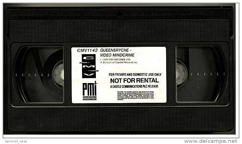 VHS Musikvideo   -   Queensryche  Video : Mindcrime  - CMV 1142 - Von Ca. 1985 - Concert Et Musique