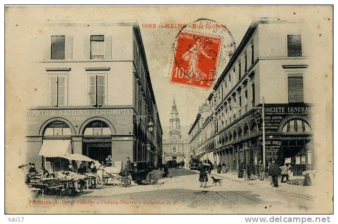 51 REIMS RUE COLBERT SOCIETE GENERALE , COMPTOIR NATIONAL D'ESCOMPTE - Reims