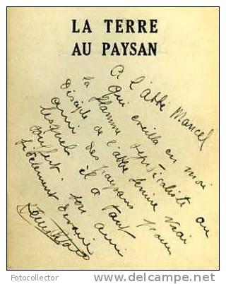 La Terre Au Paysan Par Henri Pitaud - Livres, BD, Revues