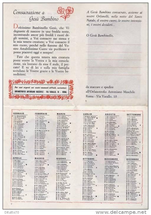 Calendarietto - Orfanotrofio Antoniano Maschile - 1962 - Roma - Calendriers