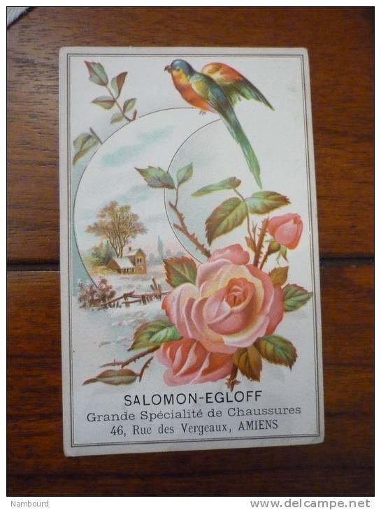 Salomon Egloff Chaussures Amiens Fleur Et Oiseau En Relief - Andere