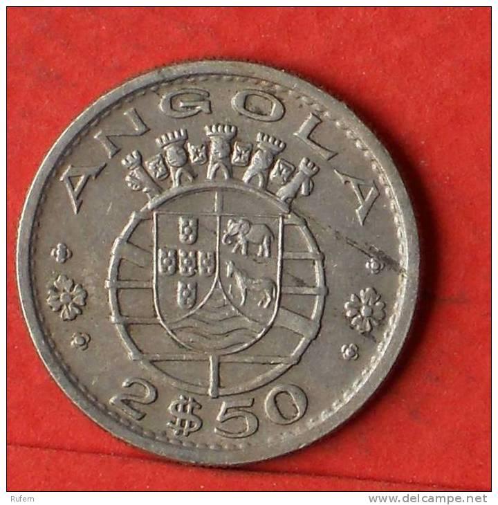 ANGOLA  2,5  ESCUDOS  1969   KM# 77  -    (1458) - Angola