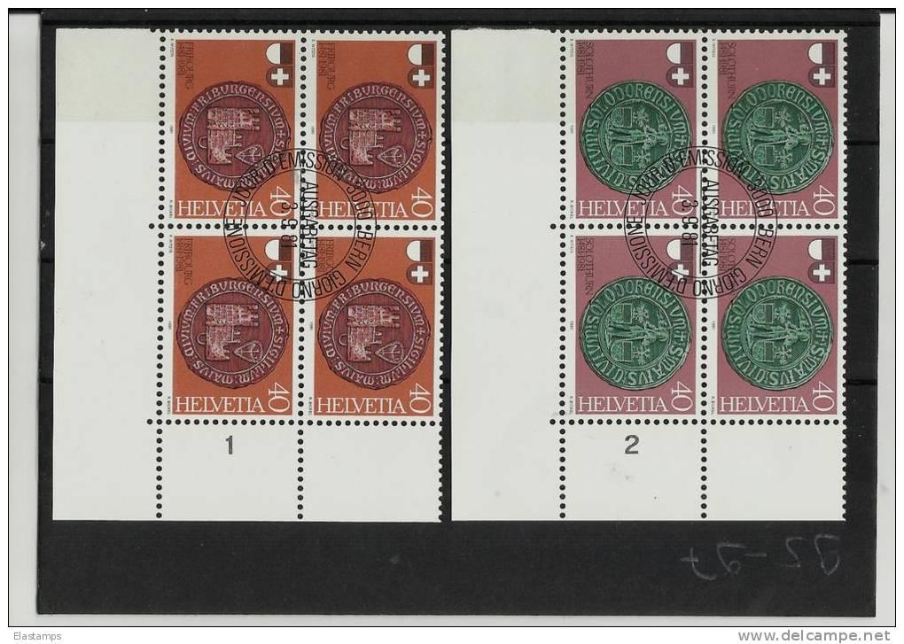 ==SCHWEIZ  4BLOCK*2 1981 - Blocs & Feuillets