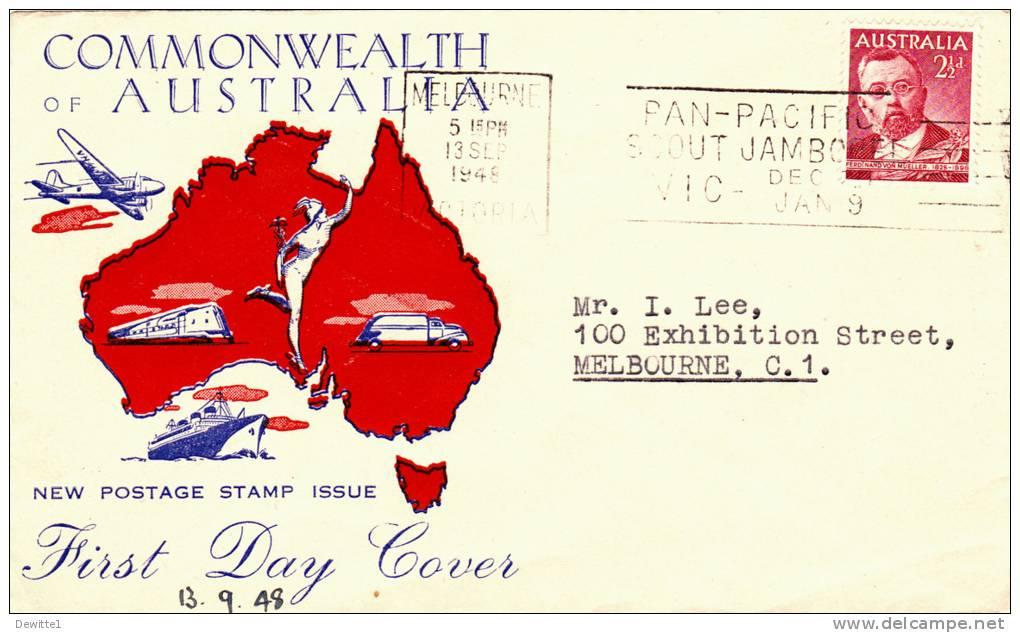 Australie  FDC  13/9/48  + FDC 1/10/37 - 1937-52 George VI