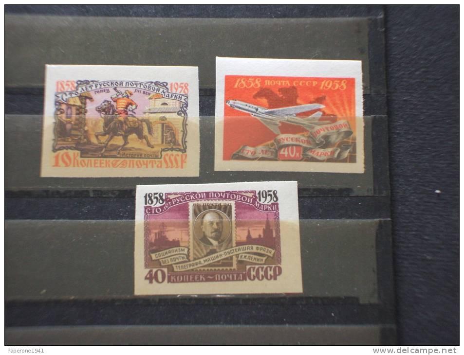 RUSSIA - 1958 CENTENARIO 3 Valori ND  - NUOVI(++)-TEMATICHE - 1923-1991 USSR