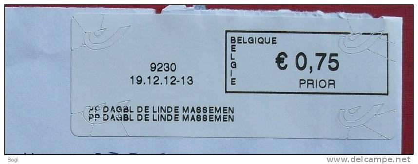 België 2013 PP Dagbl De Linde Massemen 9230 Nieuw Type - Logo Bpost - Frankeervignetten
