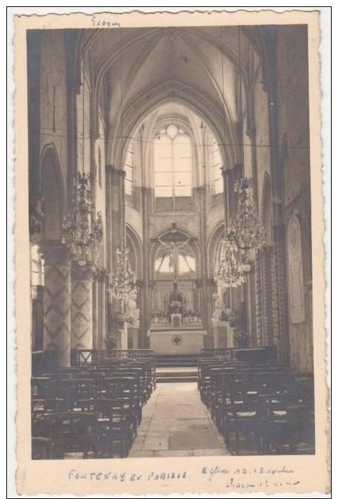 CPA PHOTO 95 FONTENAY EN PARISIS Eglise Intérieur Rare - Non Classés