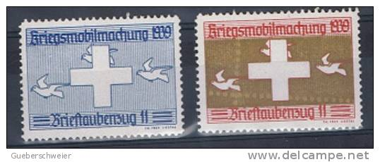 FP 188 - FELDPOST Brieftaubendienst/Service Pigeons Voyageurs - BRIEFTAUBENZUG 11 - Vignettes