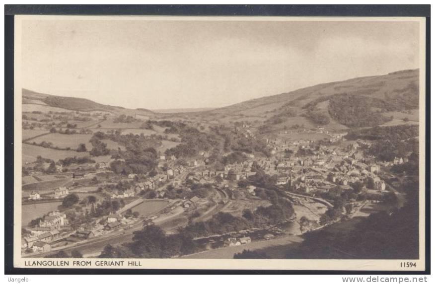W404 LLANGOLLEN FROM GERIANT HILL - Denbighshire