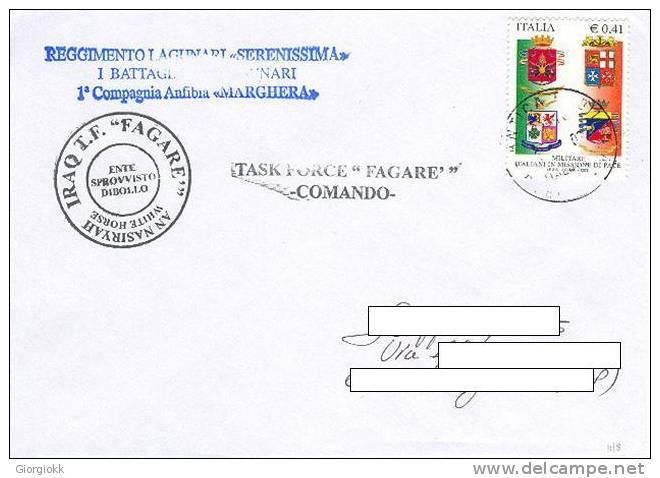 A48 - MISSIONI MILITARI DI PACE ITALIANE - ONU MISSIONS - NATO - ANTICA BABILONIA IRAQ - TASK FORCE FAGARE - LAGUNARI - 6. 1946-.. Repubblica