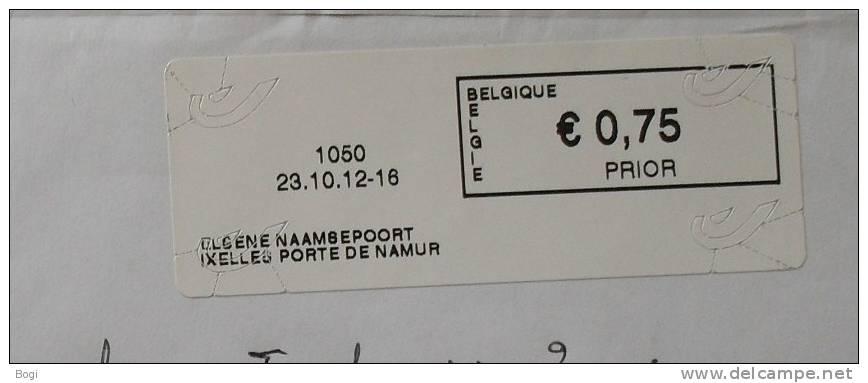 België 2012 Elsene Naamsepoort 1050 Nieuw Type - Logo Bpost - Frankeervignetten