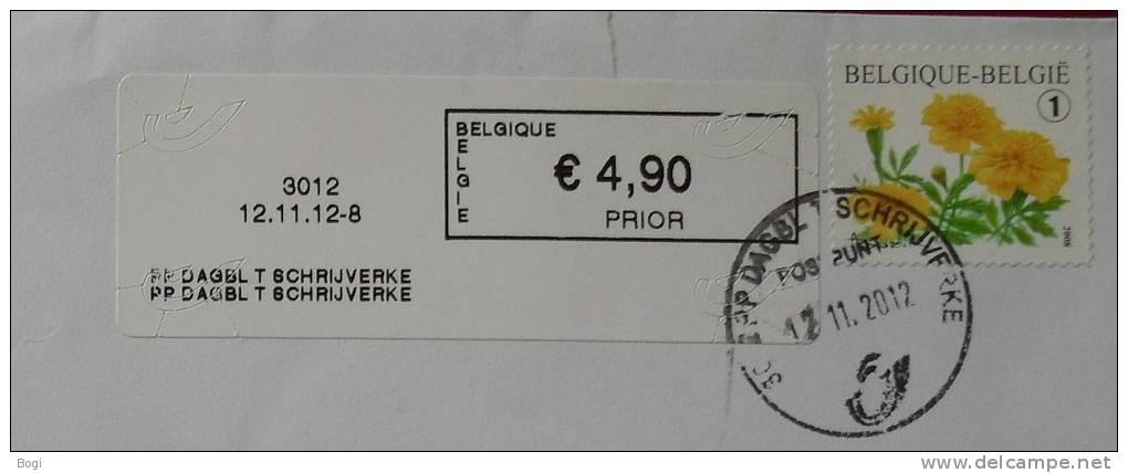 België 2012 PP Dagbl T Schrijverke 3012 Nieuw Type - Logo Bpost - Frankeervignetten