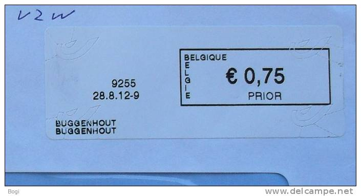 België 2012 Buggenhout 9255 Nieuw Type - Logo Bpost - Vignettes D'affranchissement