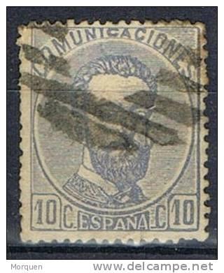 Sello 10 Cts Amadeo 1872, Parrilla Muda. Num 121 º - 1872-73 Reino: Amadeo I