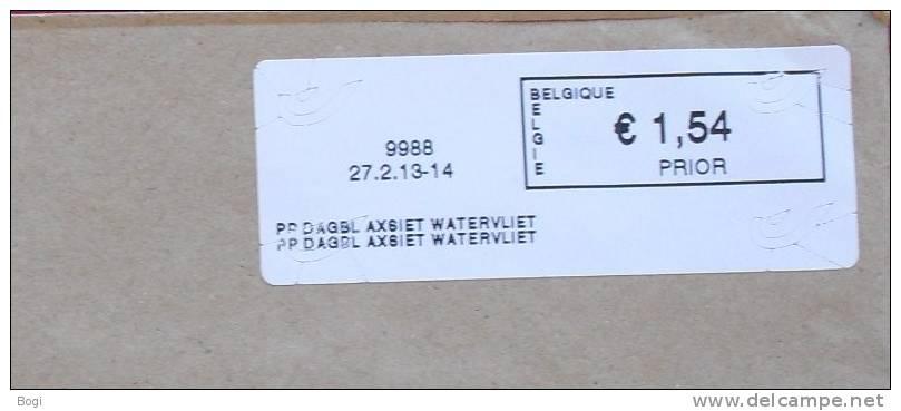 België 2013 PP Dagbl Axsiet Watervliet 9988  Nieuw Type - Logo Bpost (fragment) - Frankeervignetten