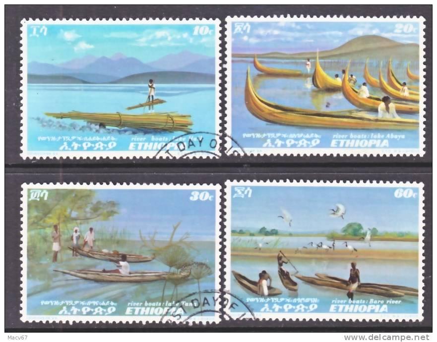 Ethiopia  613-6  (o)  BOATS  On  LAKE - Ethiopië