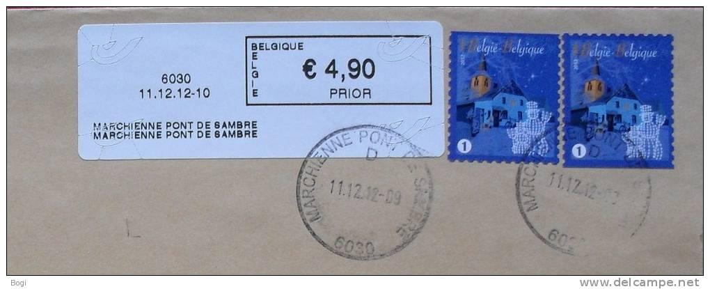 België 2012 Marchienne Pont De Sambre 6030 Nieuw Type - Logo Bpost (fragment) - Frankeervignetten