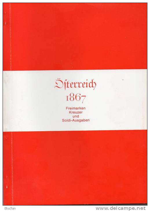 1.Serie Österreich In The Handbook 1867 New 180€ Classicer Stamps Kreuzer And Soldi-Edition Catalogue Stamp Of Austria - Original Editions