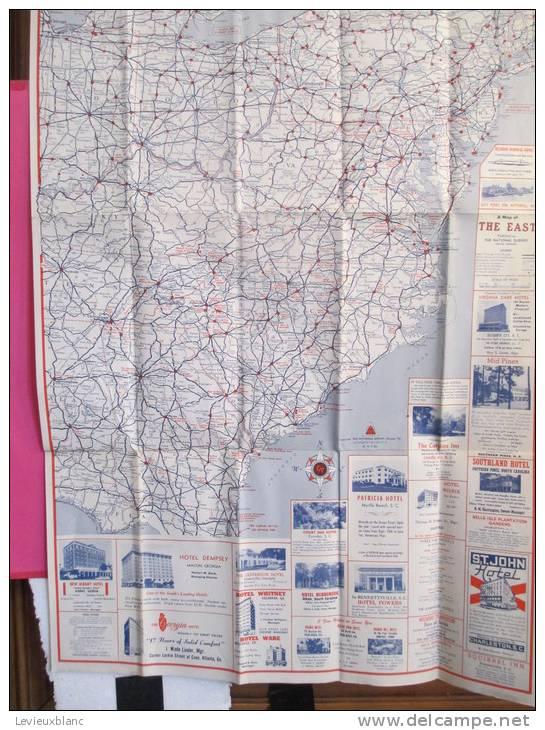 USA/The East / Saint John Hotel / CHARLESTON/Floride/The Hotel Map / 1952          PGC18 - Cartes Routières