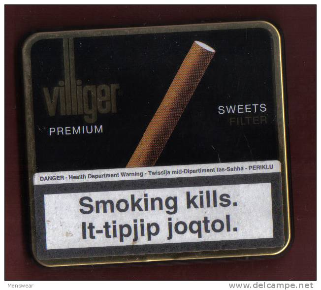 CIGAR TINS -  VILLIGER PREMIUM  CIGARS - - Étuis à Cigares