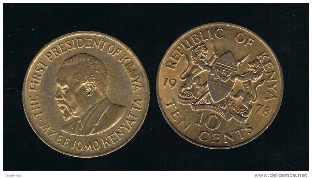 KENYA - 10 Cents KM11  -  Ver Años - Looks Years - Kenia