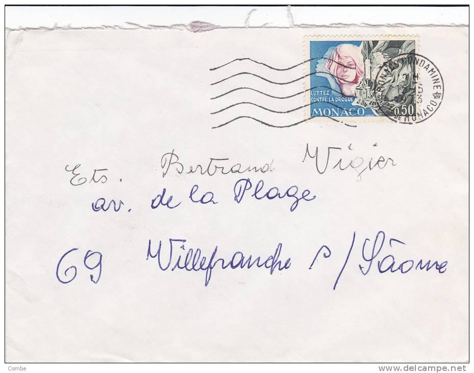 MARCOPHILIE, Lettre COVER, MONACO, 1973, Cachet  MONACO CONDAMINE,YV 931 SEUL SUR LETTRE /3498 - Poststempel