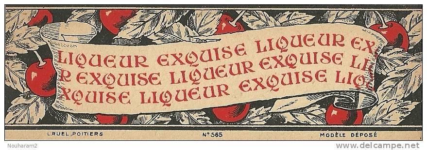 Etiquette Bouteille Ref 003. Liqueur Exquise - Poitiers - Spiritueux