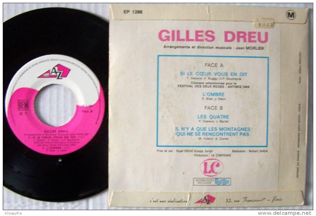 Gilles DREU EP Si Le Coeur Vous En Dit EX / Mint   Parfait état - 45 T - Maxi-Single