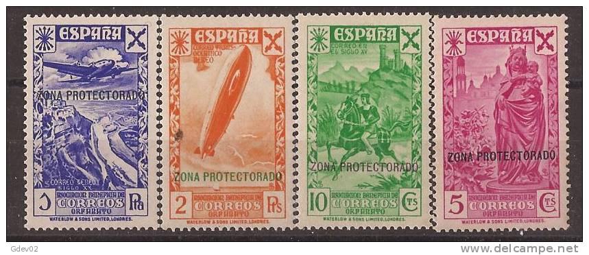 MABE7-L4070TAES.Maroc Marocco.lote  Historia Del Correo. BENEFICENCIA.1938   (Ed  7 Y 8**).sin Charnela.SUPER LUJO - Escultura