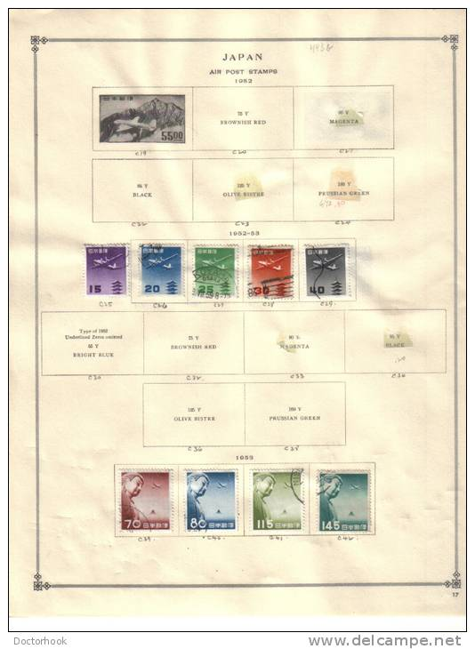 JAPAN   Collection Of  Mounted Mint And Used As Per Scan. (5 SCANS) - Japon