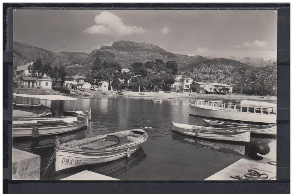 SOLLER.EL PUERTO.BARCAS   NO CIRCULADA 1955 - Mallorca