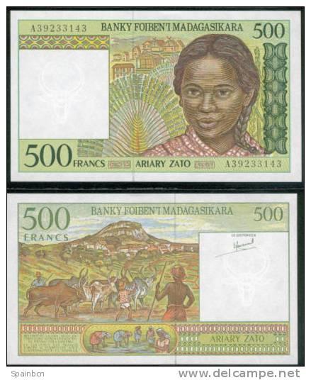 Madagascar - Madagaskar         500 Francos / Francs 1994 - Madagascar
