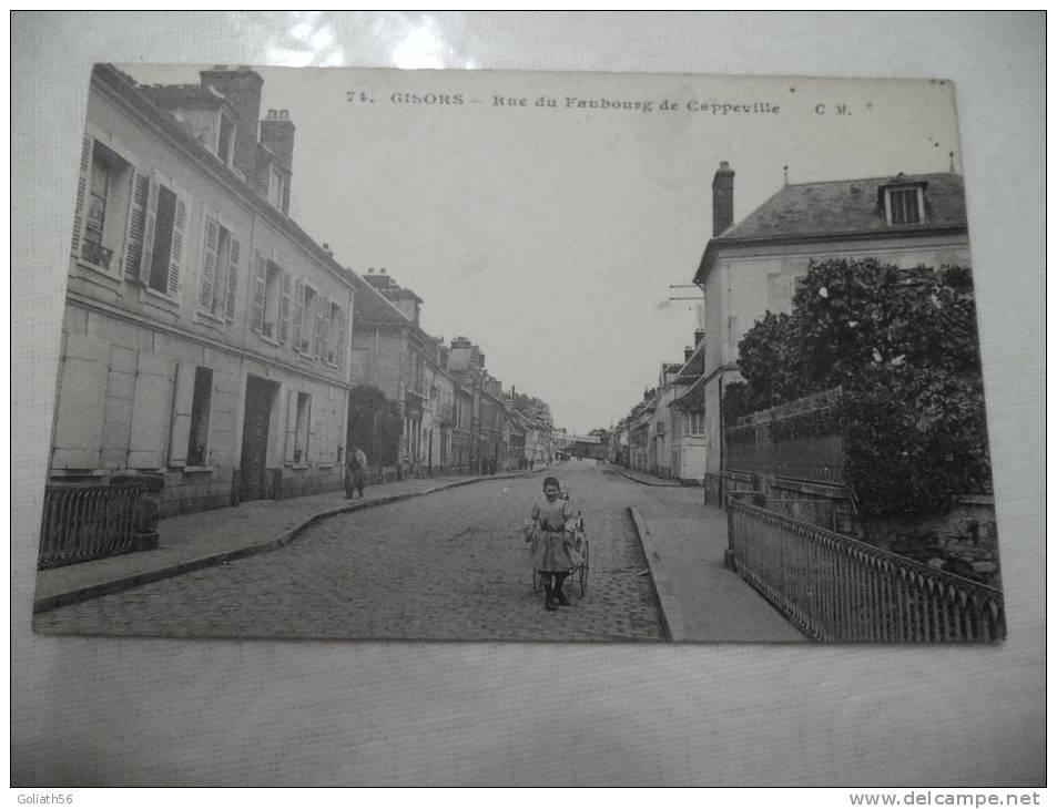 CPA De Gisors ( Eure) - N°74 - Rue Du Faubourg De Cappeville, Carte Animée, Enfant Tirant Une Carriole - Gisors