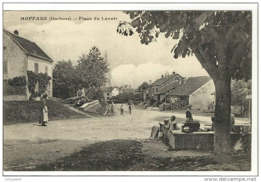Carte Postale Ancienne Moffans - Place Du Lavoir - Métiers, Laveuses, Lavandières - Other Municipalities