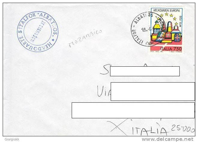 A208 - MISSIONI MILITARI DI PACE - ONU MISSIONS - UNITED NATIONS - ITALFOR ALBATROS MOZAMBICO - - 6. 1946-.. Repubblica