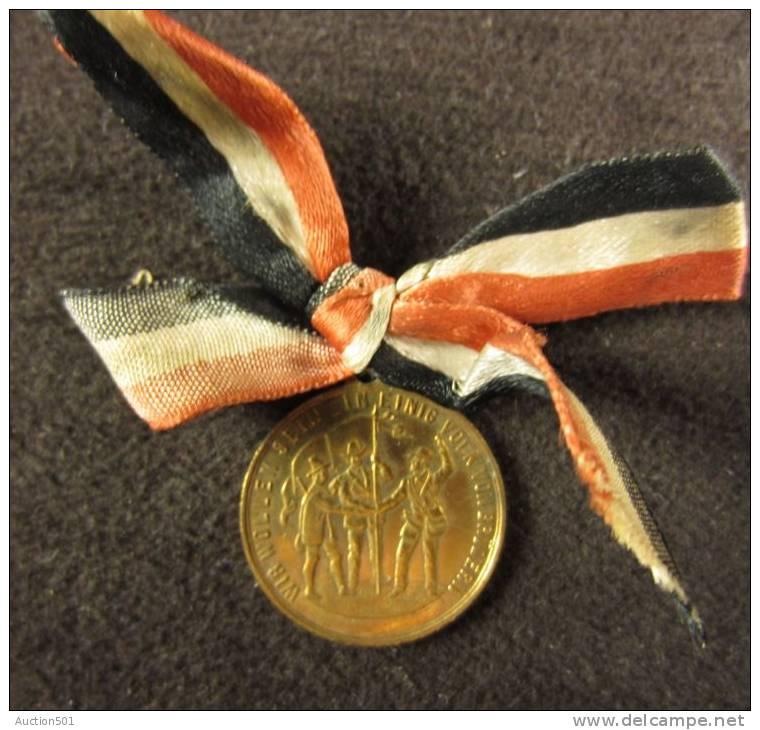 M01132 Zum Andenken An Das II Deutsche Bundes Schliessen 1865 Bremen, Einig Volk Von Brudern (5 G.) - Autres