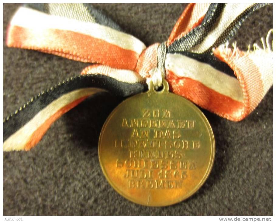 M01132 Zum Andenken An Das II Deutsche Bundes Schliessen 1865 Bremen, Einig Volk Von Brudern (5 G.) - Deutschland