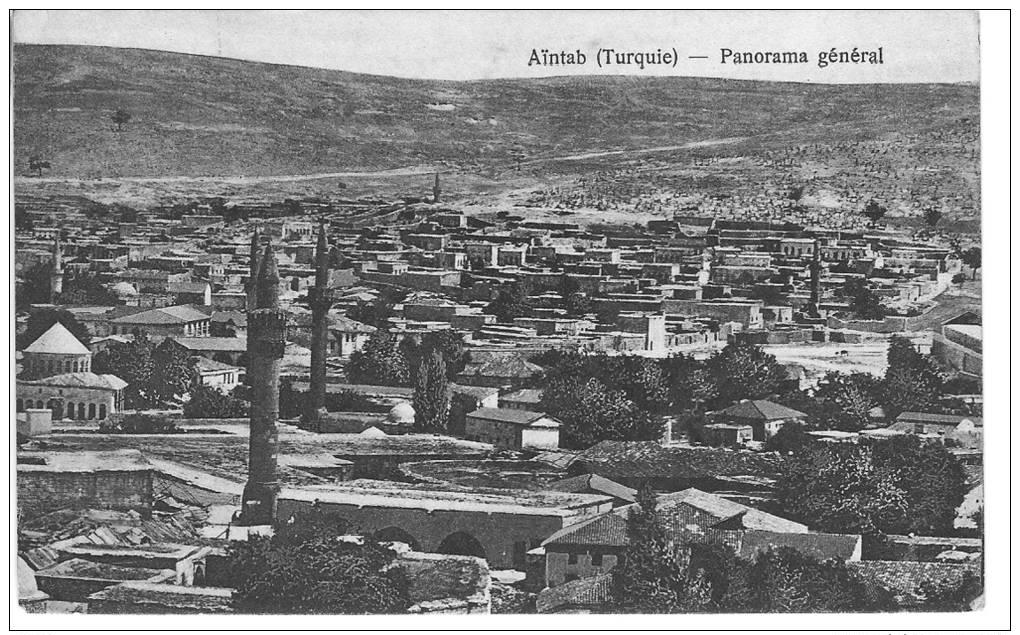 TURQUIE AINTAB Lot De 6 Cartes : Panorama Général, Ville Citadelle Central Turkey College église - Postcards