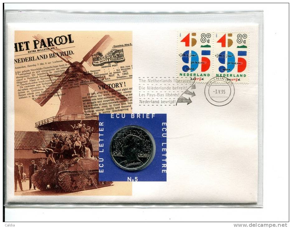 "Pays-Bas Nederland ECU """" Second World War """" UNC - [ 9] Mint Sets & Proof Sets"