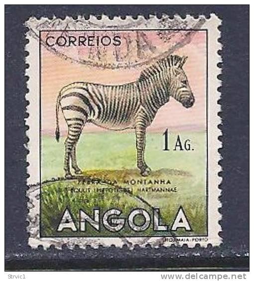 Angola, Scott # 368 Used Zebra, 1953 - Angola