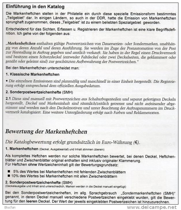 Katalog RICHTER DDR Teil 2 Markenheftchen 2013 Neu 25€ Heftchen Mit Abarten Booklet + Error Special Catalogue Of Germany - Books, Magazines, Comics