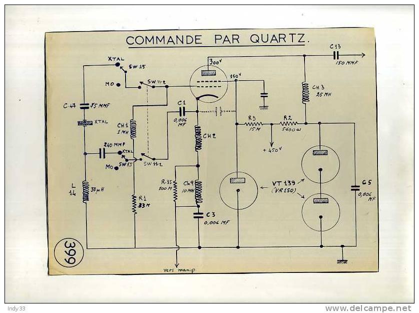 - E.M.A.T./A.F.N. RADIO SCR 399, RADIO WS 19 ET POSTE RR 2 . LOT DE DOCUMENTS NON VERIFIES - Radio