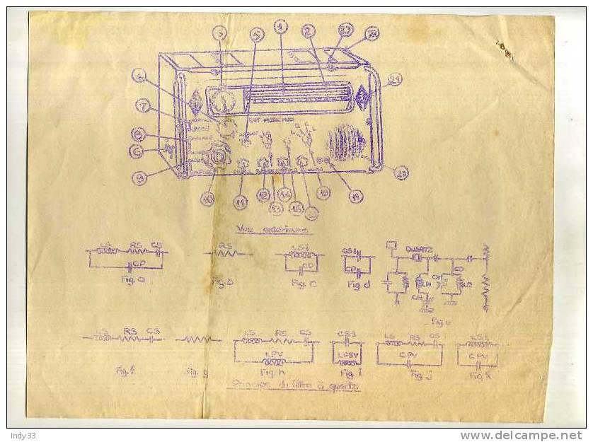 - E.M.A.T./A.F.N. RADIO SCR 399, RADIO WS 19 ET POSTE RR 2 . LOT DE DOCUMENTS NON VERIFIES - Radios