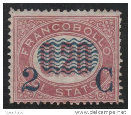 ITALIA 1878 - Yvert #27 (Fiscal) - MLH * (Rare!) - Steuermarken